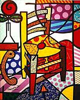 Romero Britto 'Vincent's Chair'