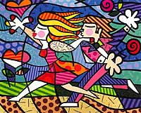 Romero Britto 'Love Blossoms'