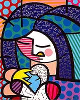 Romero Britto 'Mother & Child'