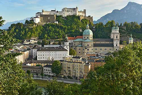 View from the Capuchin monastery to the old town, Austria