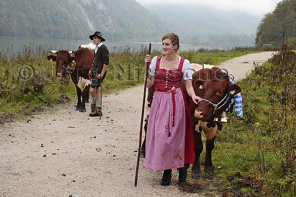 A young dairymaid at Königssee.